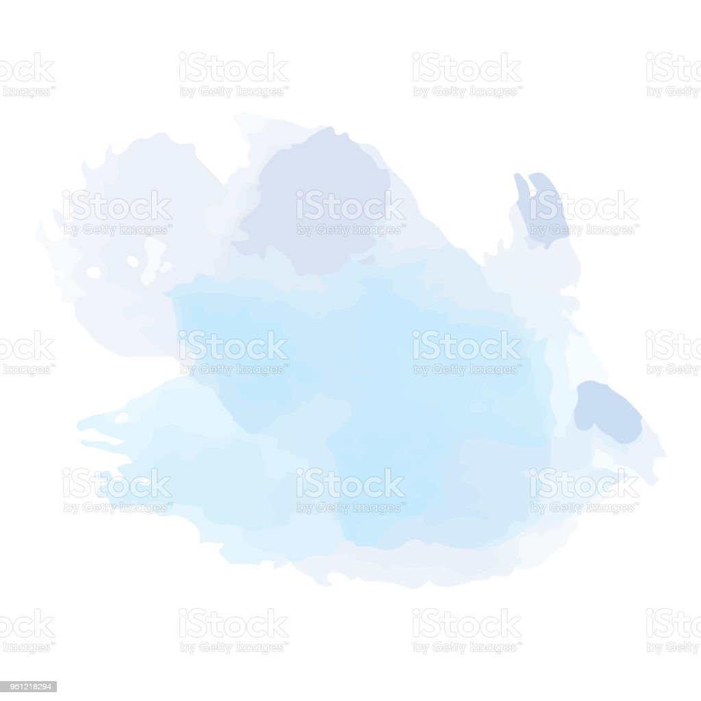 Beautiful Abstract Watercolor Art Hand Paint On White Backgroundbrush Textures For LogoThere