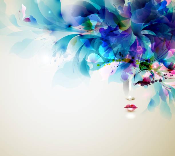 美しい抽象的な女性 - ファッション/ビューティ点のイラスト素材/クリップアート素材/マンガ素材/アイコン素材