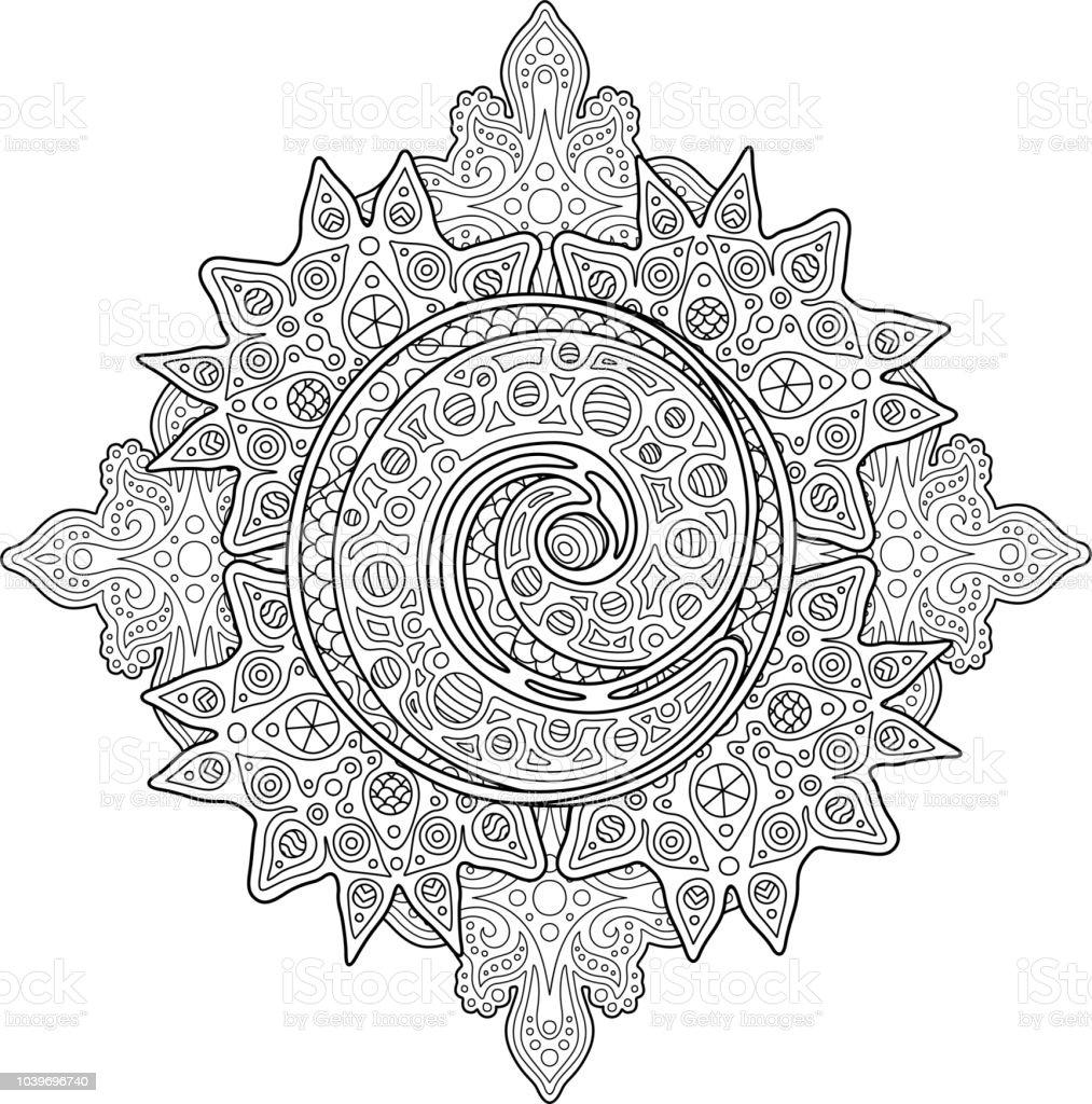 Coloriage Adulte Spirale.Adulte Beau Coloriage Livre A Spirale Vecteurs Libres De Droits Et