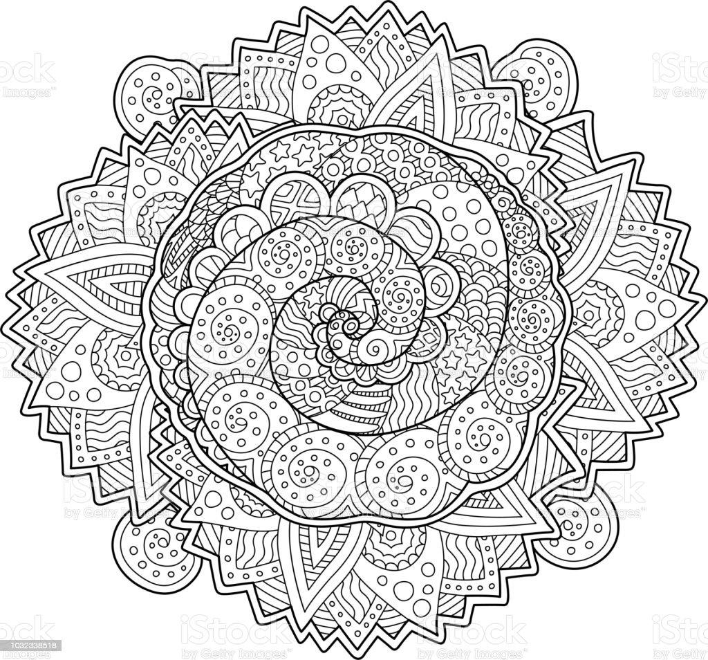 Coloriage Adulte Spirale.Adulte Beau Livre Coloriage Avec Spirales Vecteurs Libres De Droits