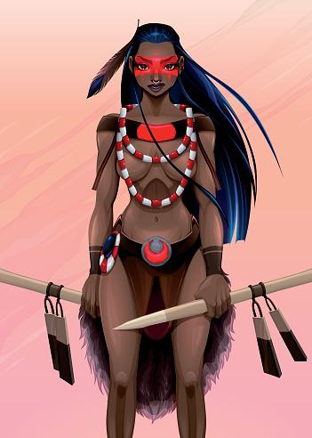 Beautiful amazon warrior