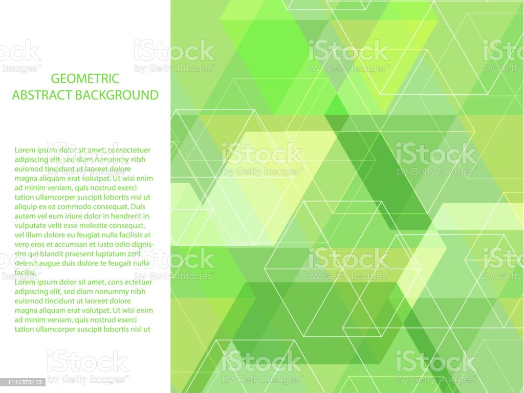 Beautiful And Classic Pastel Neon Green And White Polygon