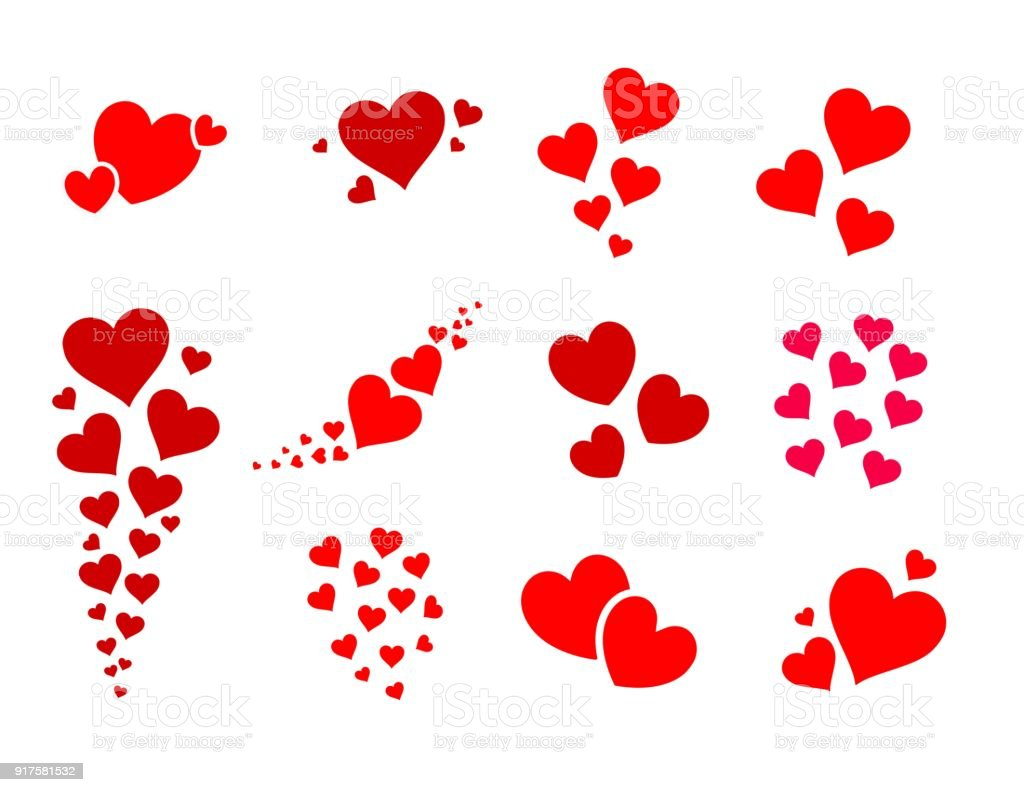 beautiful and cute group of hearts vector illustration stock vector rh istockphoto com hearts vector image hearts vector image