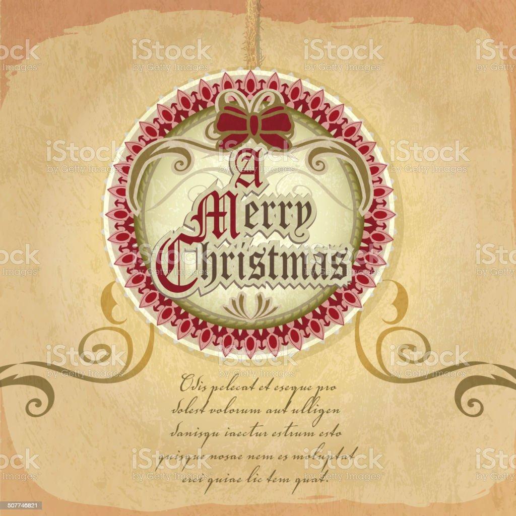Immagini Natale Vittoriano.Bella Ed Elegante Stile Vittoriano Di Auguri Buon Natale Decorazione