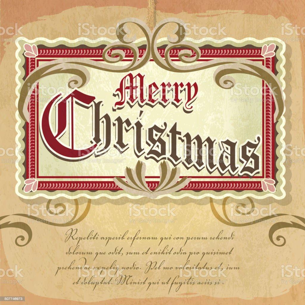 Auguri Di Buon Natale Eleganti.Bella Ed Elegante Stile Vittoriano Di Auguri Buon Natale Decorazione