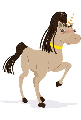 Beautiful and happy unicorn
