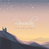 beautiful arabic festival ramadan kareem greeting card