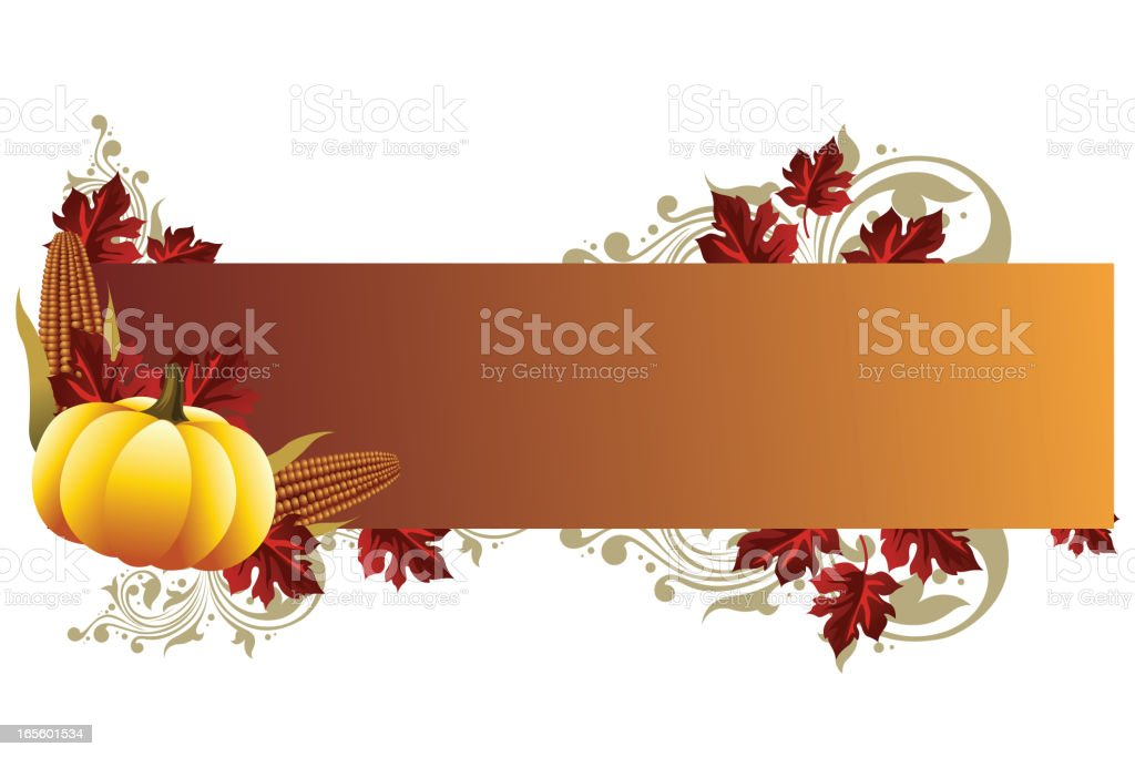 Beautiful Autumn Background/Banner vector art illustration