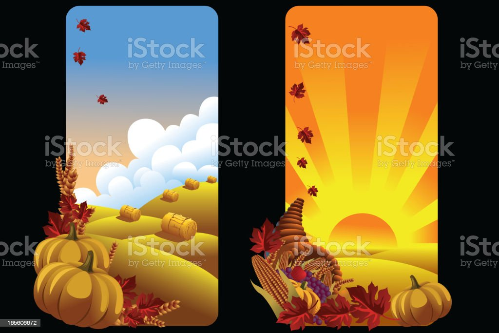 Beautiful autumn Background/Banners royalty-free beautiful autumn backgroundbanners stock vector art & more images of agriculture