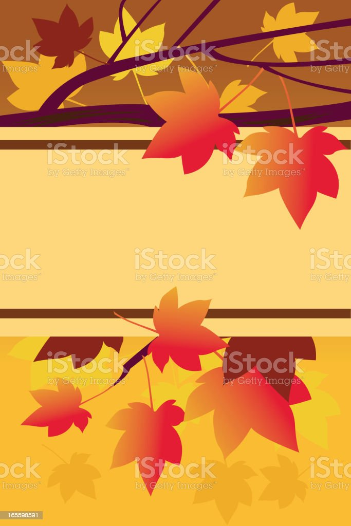 Beautiful autumn Background/Sign royalty-free beautiful autumn backgroundsign stock vector art & more images of autumn