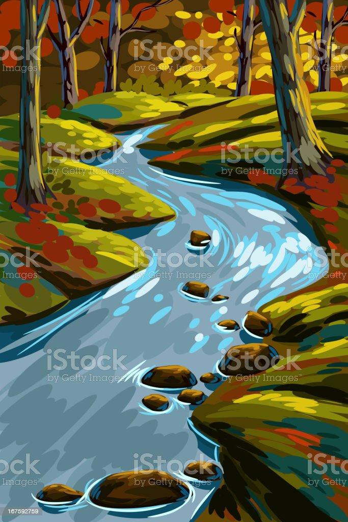 Schöne Herbst Wald – Vektorgrafik