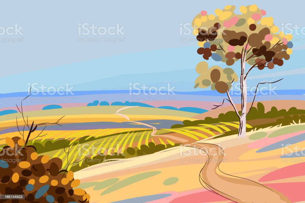 Beautiful Autumn Landscape royalty-free stock vector art