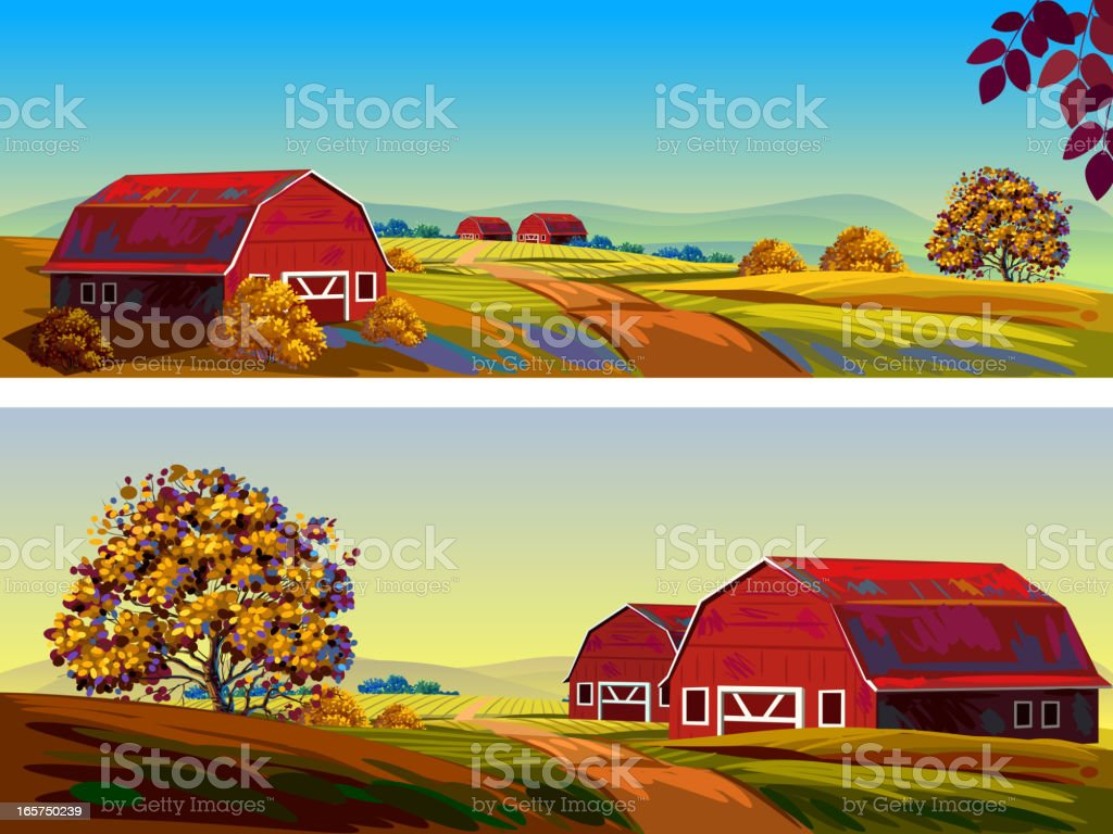 Beautiful Autumn Landscape royalty-free beautiful autumn landscape stock vector art & more images of agriculture