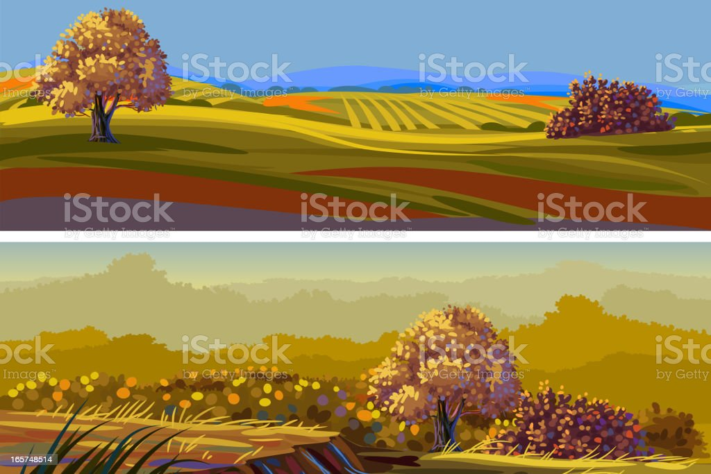 Beautiful Autumn Landscape/Banners royalty-free stock vector art