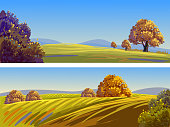 Beautiful Autumn Landscapes/Banners, all elements are in separate layers and,grouped, please visit my portfolio for more options. Please visit my portfolio for more options.