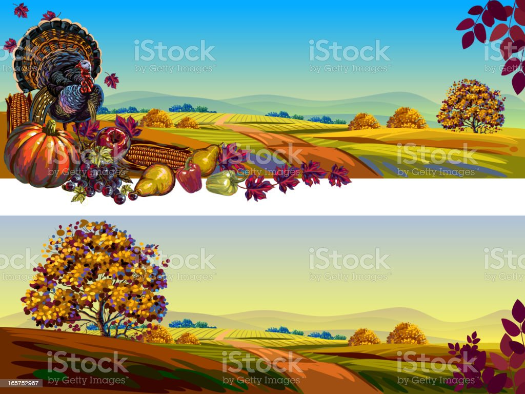 Beautiful Autumn/Thanksgiving Backgrounds royalty-free stock vector art