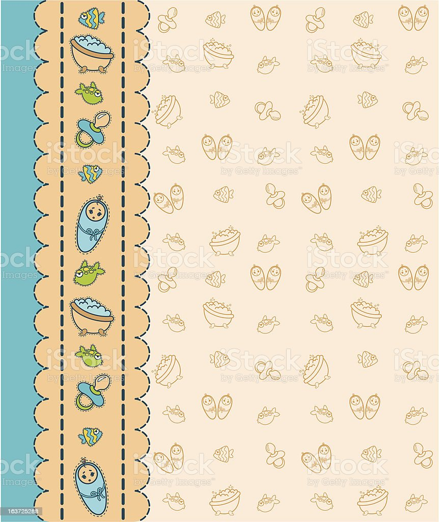 Beautiful background with baby icons. Vector royalty-free beautiful background with baby icons vector stock vector art & more images of 12-17 months