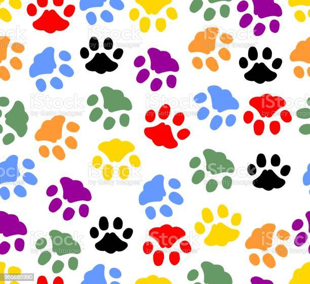Beautiful background with colored prints of cat paws colorful cat on vector id955685990?b=1&k=6&m=955685990&s=612x612&h=nu gzylgasmov uolwmf icvinoa5uodmgykd9jhvrc=