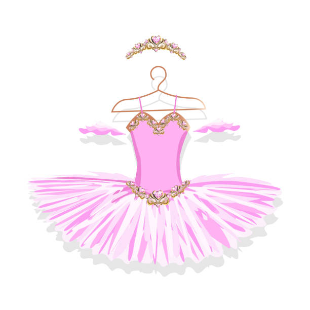 Ballerina Clipart with cute characters, pink tutu, ballet ...   Ballerina Tiaras Cartoon