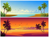 Beautiful Beach Backgrounds/Banners