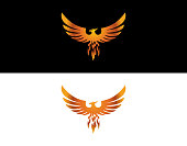 istock A beautiful bird called golden phoenix! 1201237928