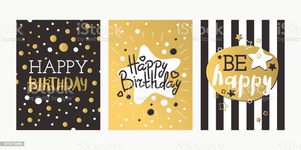 Beautiful Birthday Invitation Card Design Gold And Black