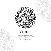 Can be used for jewelry, beauty and fashion industry. Elegant, classic elements. Great for logo, monogram, invitation, flyer, menu, brochure, postcard, background, or any desired idea.