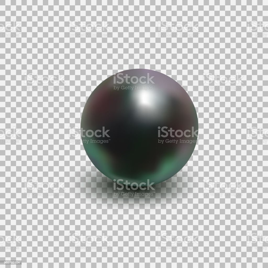 Beautiful black shiny sea pearl - Royalty-free Abstract stock vector
