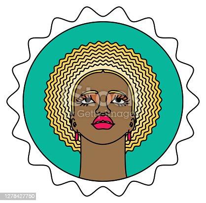 istock Beautiful Black Woman Color Portrait 1278427750