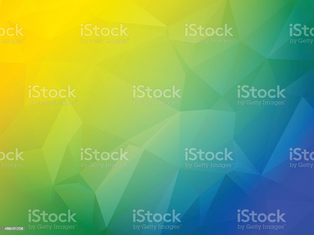 Beautiful blue green and yellow triangular background vector art illustration