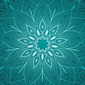 beautiful blue mandala floral background. vector illustration