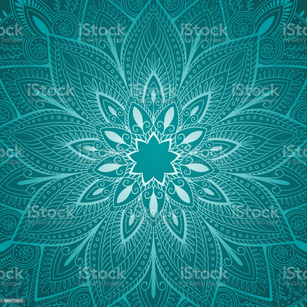 beautiful blue mandala floral background vector art illustration