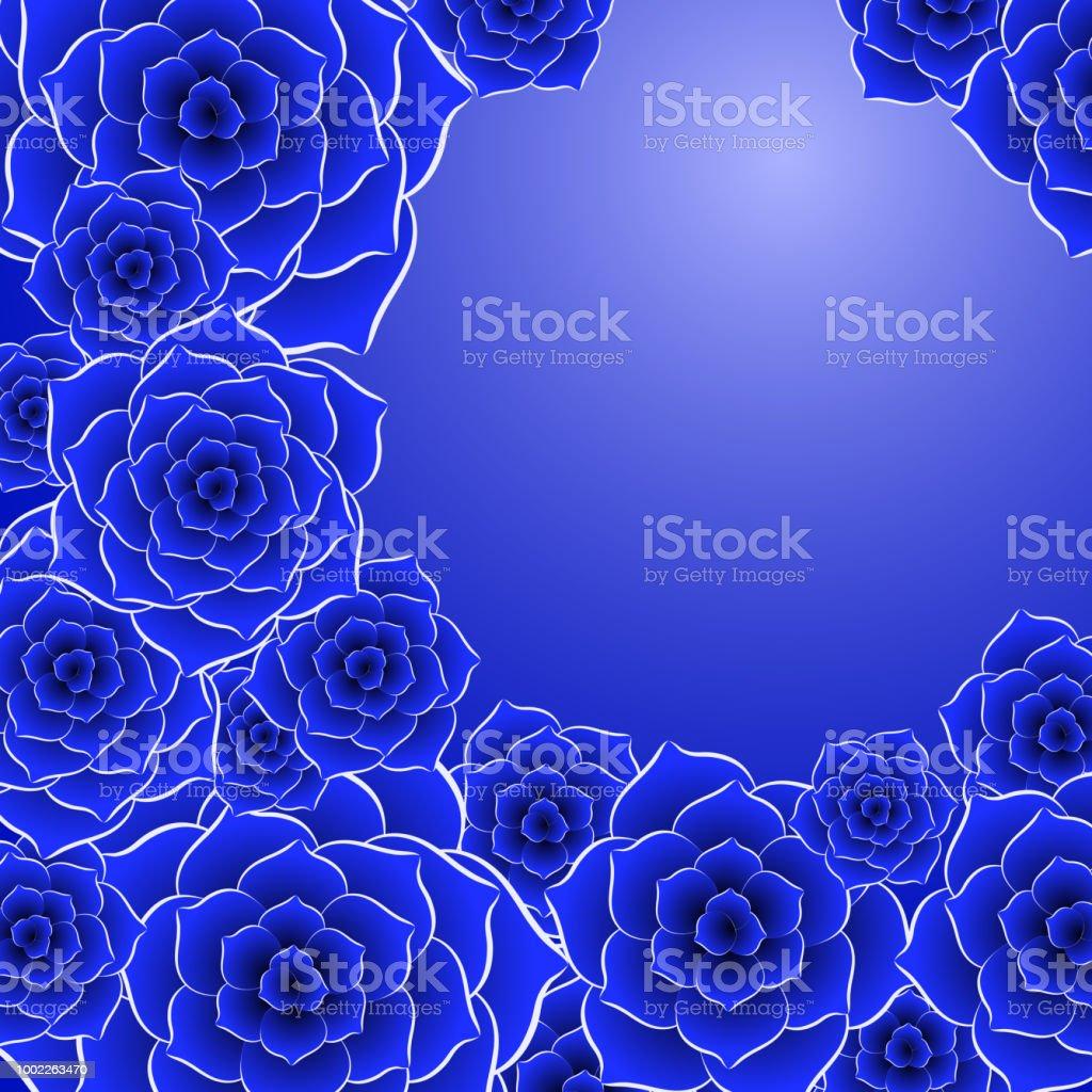 Belle Image Rose Bleu fond de belle fleur rose bleu – cliparts vectoriels et plus d'images