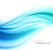 Beautiful Blue Satin. Drapery Background, Vector Illustration