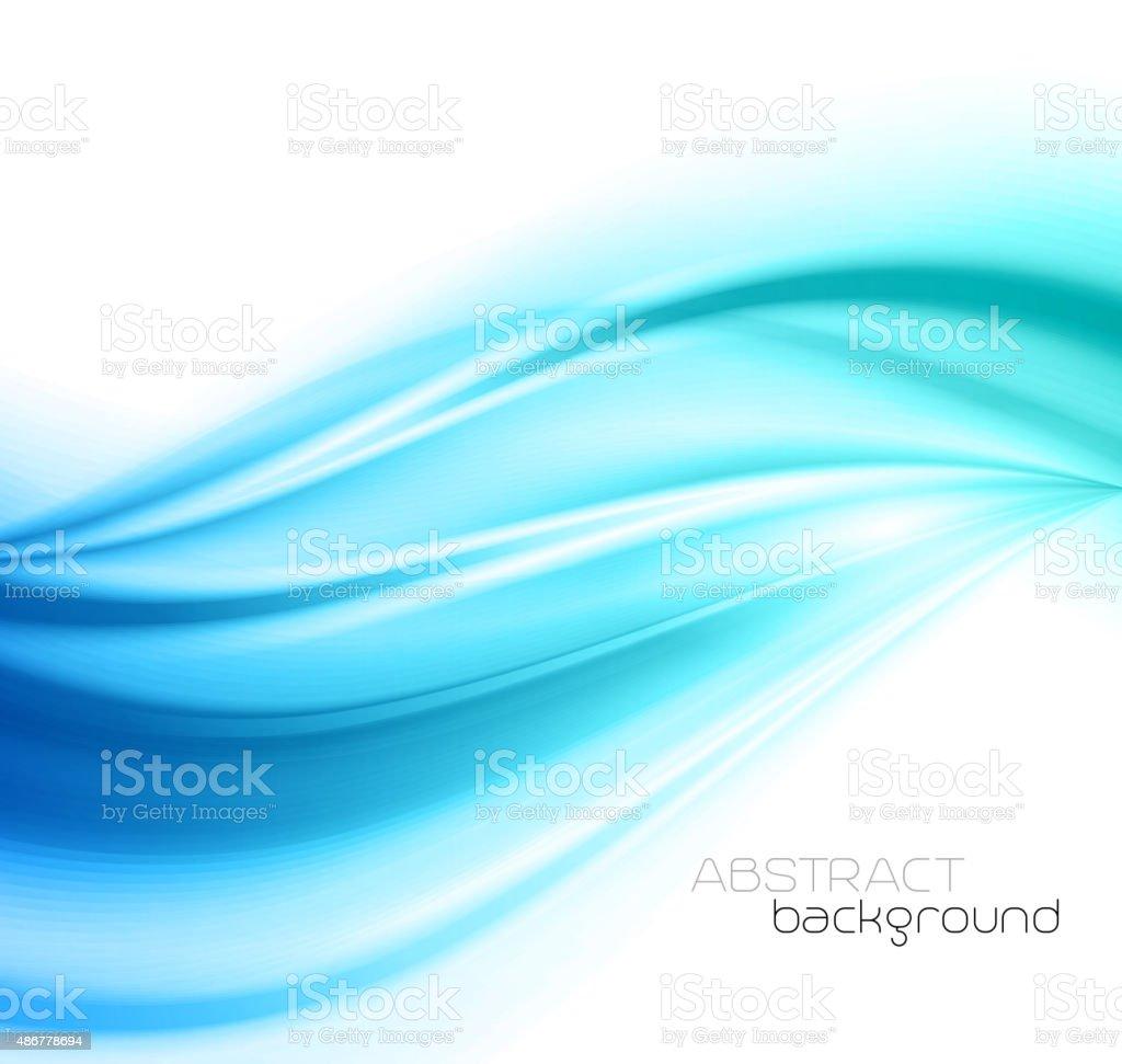 Bleu magnifique Satin. Fond de rideaux - Illustration vectorielle