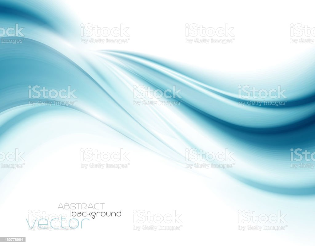美しいブルーのサテン。ドレープの背景 ベクターアートイラスト