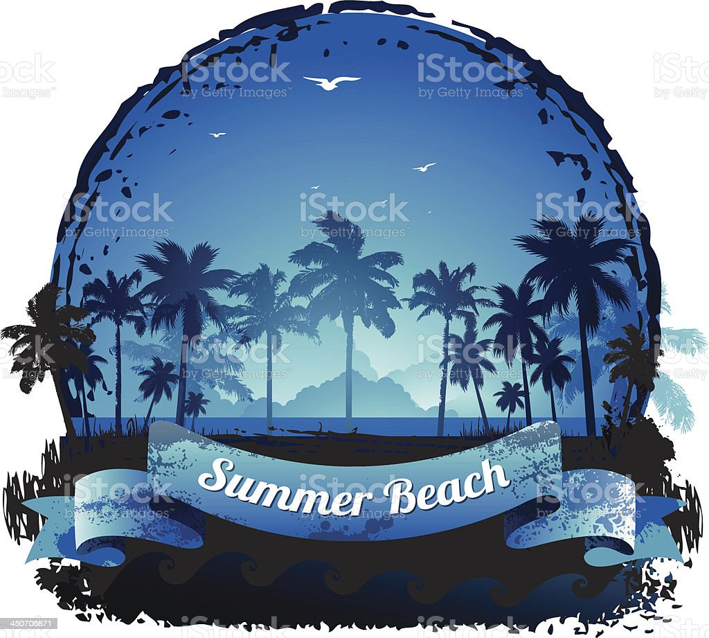Beautiful blue tropical summer vacation background royalty-free beautiful blue tropical summer vacation background stock vector art & more images of back lit