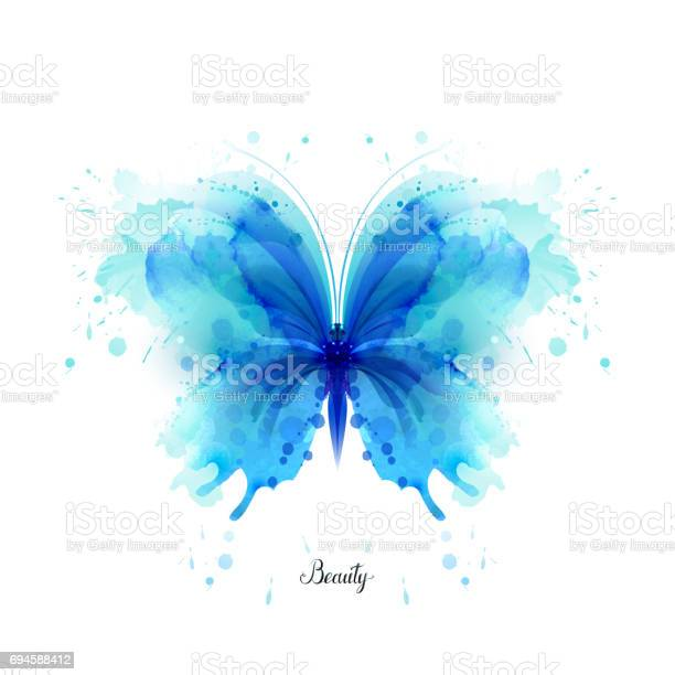 Beautiful blue watercolor abstract translucent butterfly on the white vector id694588412?b=1&k=6&m=694588412&s=612x612&h= qwu1qsyy9kaodc1g6mqrjhxhsqgpbin8bdgwgdu7hg=