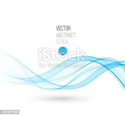 istock Beautiful Blue wave Background 491827032
