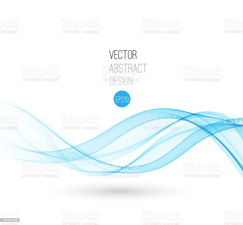 Beautiful Blue wave Background vector art illustration