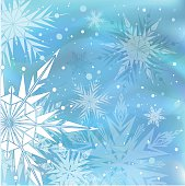 Beautiful blue winter background