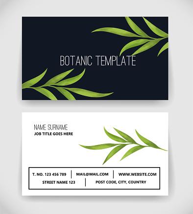 Beautiful Botanic Business Card Template vector