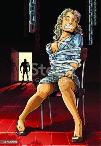 istock Beautiful bound woman. 94745589