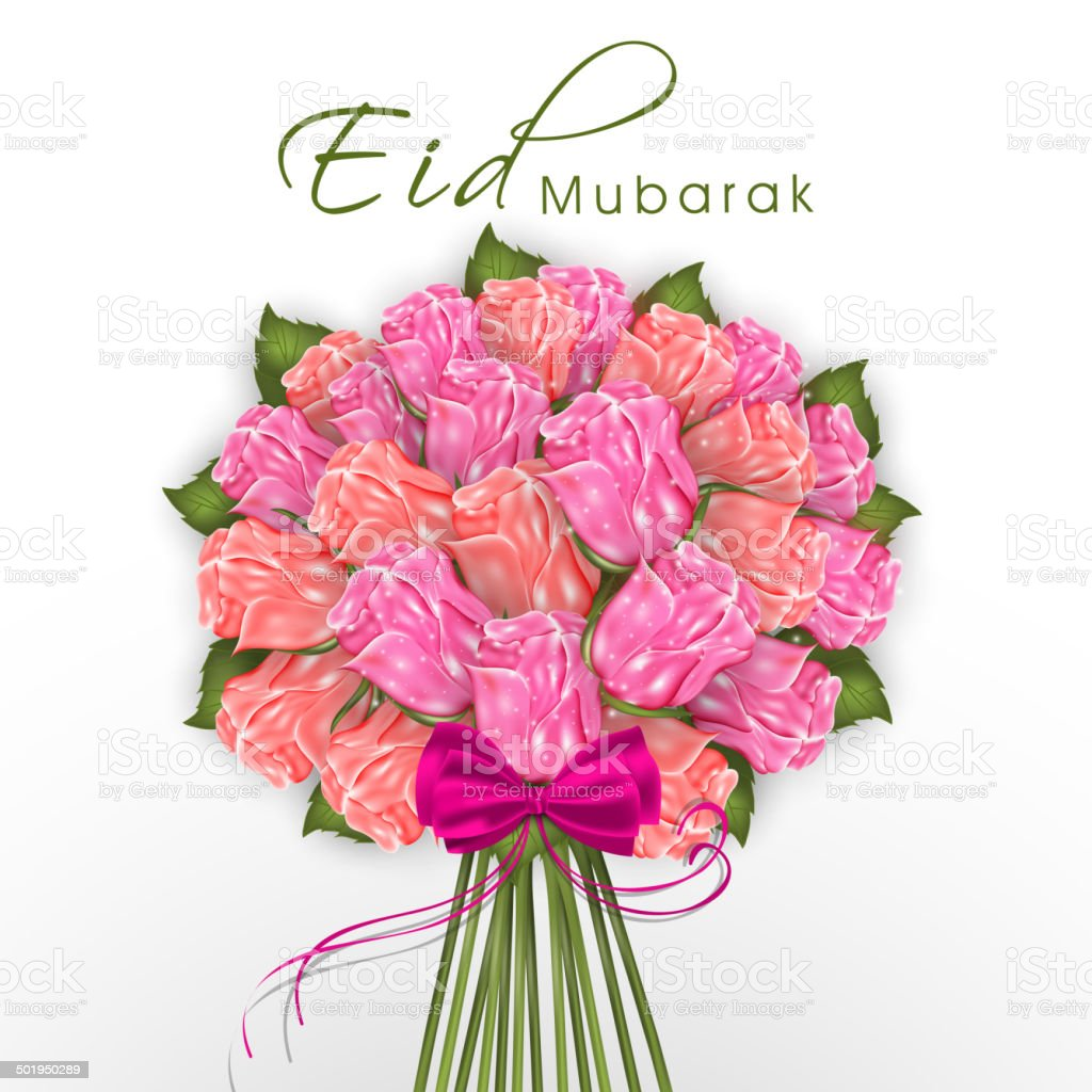 Beautiful bouquet of flowers for eid mubarak festival celebrations beautiful bouquet of flowers for eid mubarak festival celebrations royalty free beautiful bouquet of izmirmasajfo