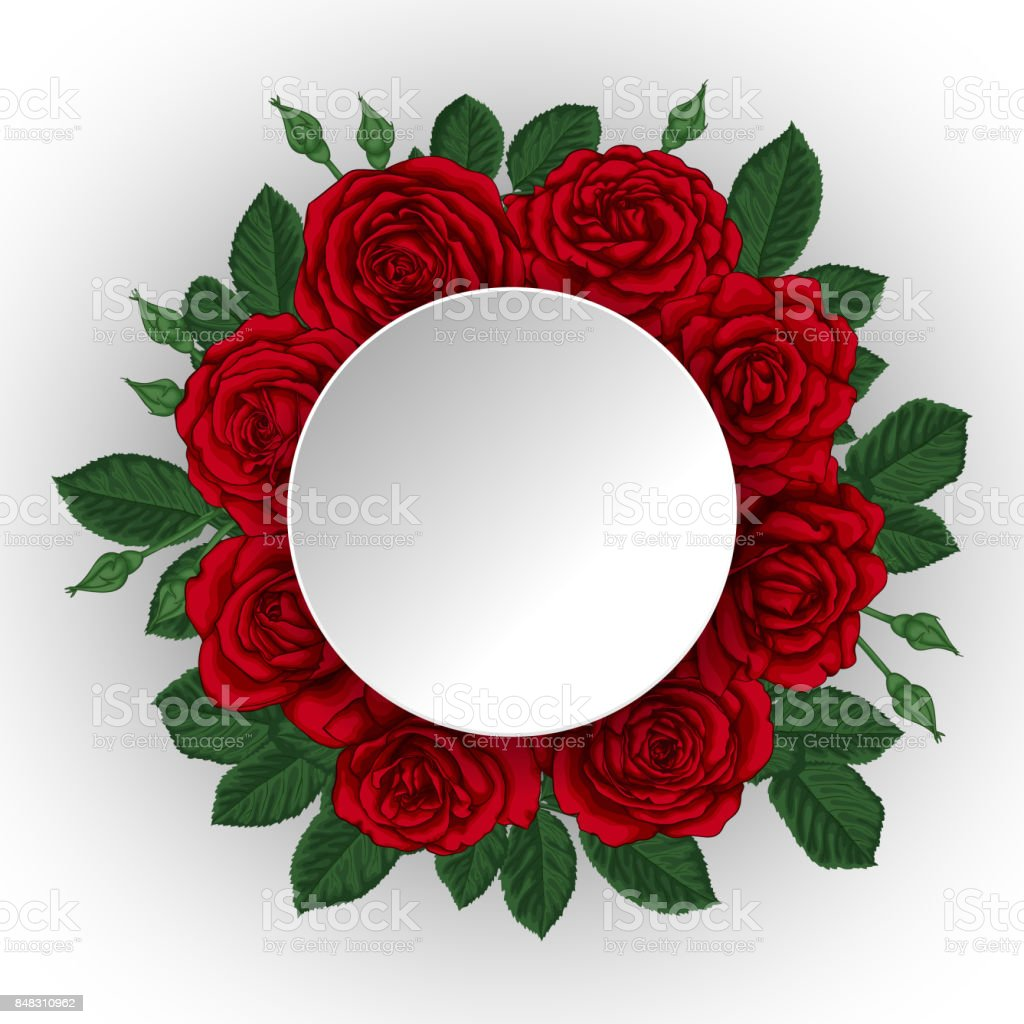 Beautiful bouquet with red roses and leaves floral arrangement paper beautiful bouquet with red roses and leaves floral arrangement paper border frame design izmirmasajfo