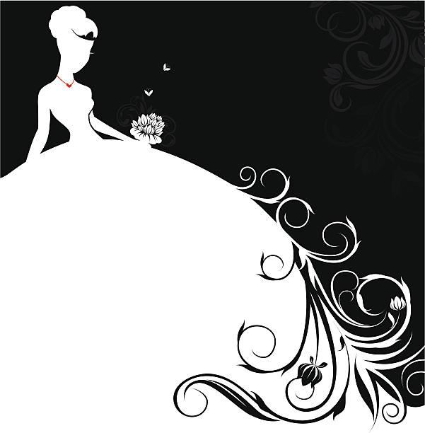 ilustrações, clipart, desenhos animados e ícones de linda noiva banner - baile de graduação