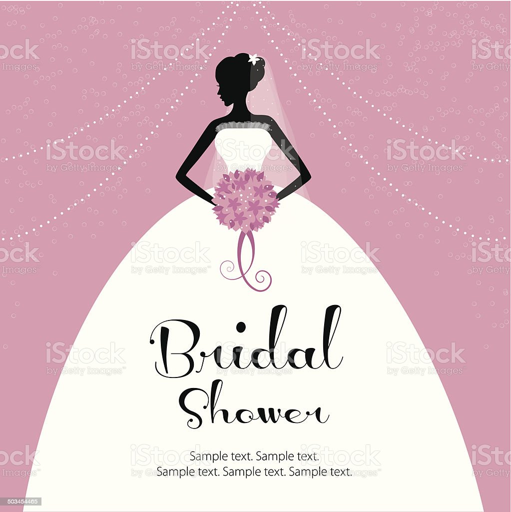 Beautiful bride -bridal shower royalty-free stock vector art