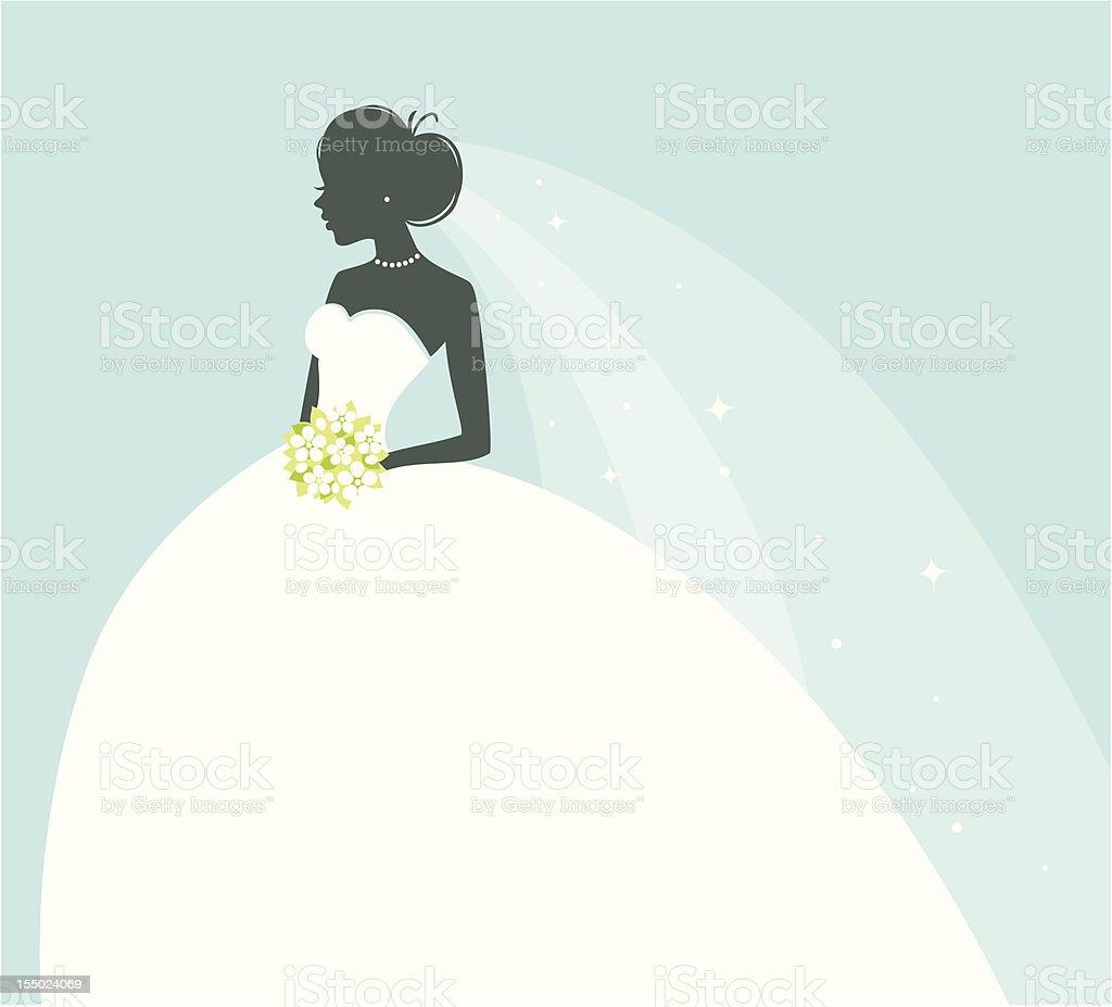 Beautiful bride vector art illustration