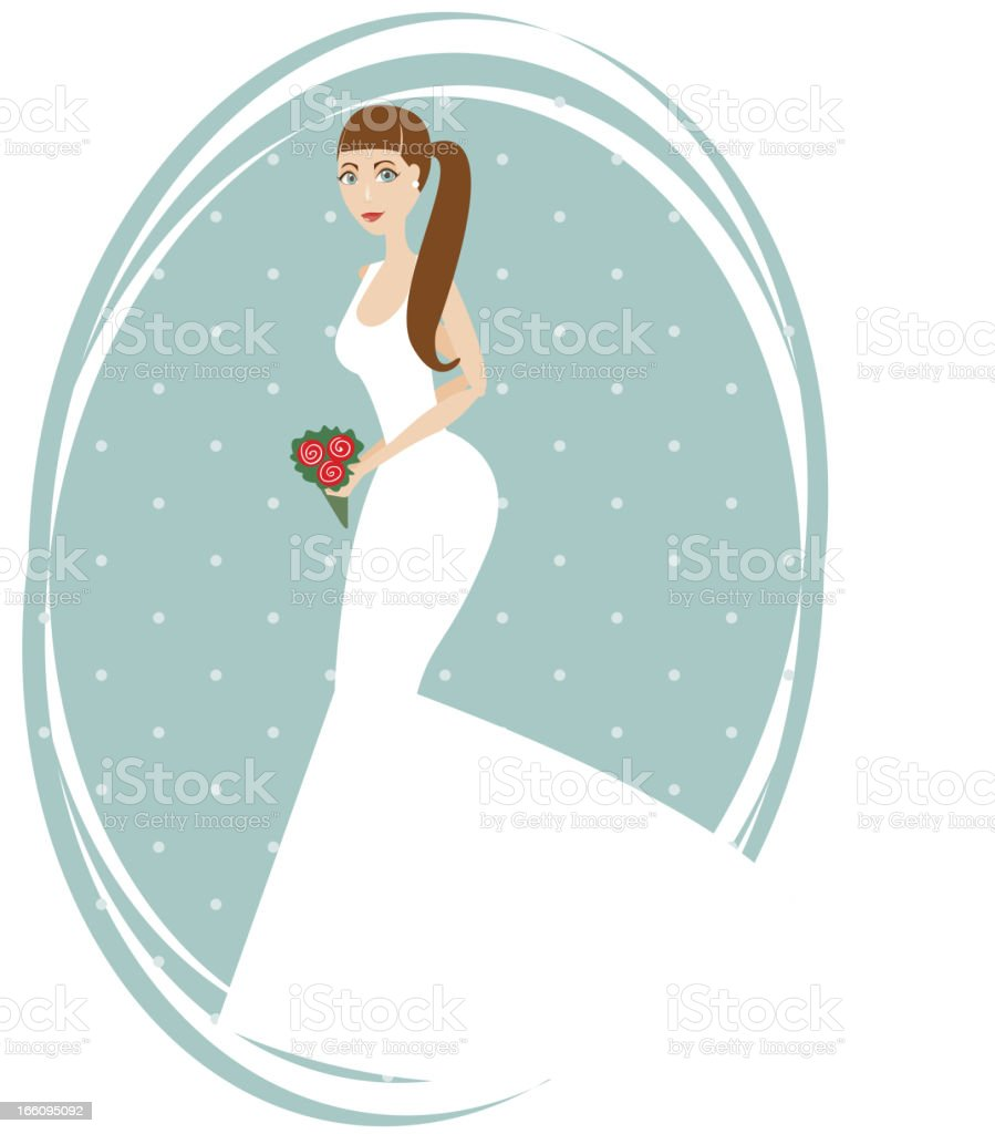 Beautiful bride royalty-free stock vector art