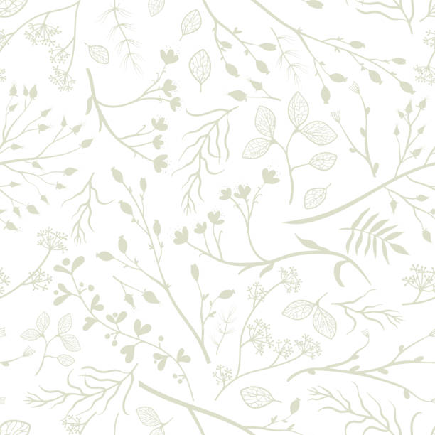 Beautiful bright autumn branches, leaves and flowers seamless pattern, romantic floral fall background, great for seasonal fashion prints, textiles, wallpapers, banners - vector surface design vector art illustration